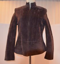 Pursuits LTD Brown Leather / Suede  Women Size Small Jacket / Coat Zipper Front