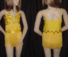Sunshine Dance Costume Fringed Leotard Flapper Jazz Tap Child Large New