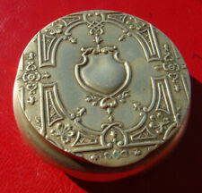 RARE VINTAGE BEAUTIFUL COAT OF ARMS DESIGN SILVERED SMALL TRINKET CASE BOX