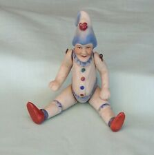 Vintage Pulcinella  Bisque French German Mignonette Clown Doll c1930s Small Size