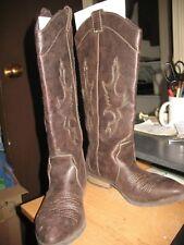 Rampage Waylen Cowboy Boots-Women's Sze 6.5 M Brown Soft