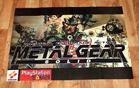 Metal Gear Solid 1 very rare Poster 79x56cm Konami 1999 Playstation PS1