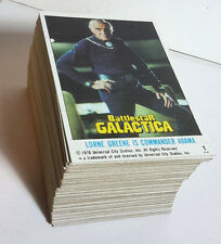 1978 Battlestar Galactica Complete Topps Trading Card Set of 88 #1-88 Unused