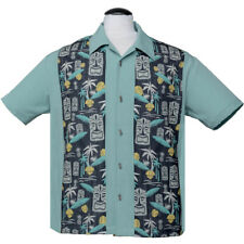 Steady Clothing Rockabilly Vintage Bowling Shirt Hemd - Tiki In Paradise