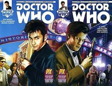 DOCTOR WHO #1 10th 11th tenth eleventh RARE PX SDCC VARIANT SET TITAN COMIC 2014