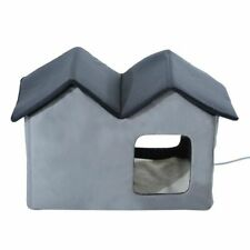 New listing Heated Water-proof Double Wide Outdoor Cat Dog House Foldable Grey