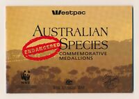 1992 WWF ENDANGERED AUSTRALIAN SPECIES Medallion Set Excellent