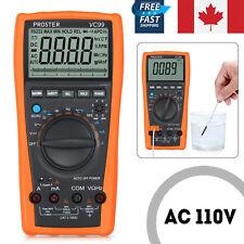 VC99+ 6999 Auto Range LCD Digital Multimeter AC DC OHM Voltmeter Ammeter Tester
