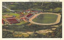 CUMBERLAND, MD Maryland  FAIRGROUNDS & RACETRACK Aerial View 1943 Linen Postcard