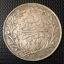 EGYPTE 10 QIRSH 1913 ( AH 1327/6) MUHAMMAD V SUP+