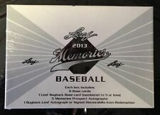 2013 Leaf Memories HOBBY Box 5 Auto (Aaron Judge Black Blue Gold Green Red 1/1)?