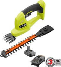 Ryobi Cordless Grass Shear Shrubber Trimmer Electric 18V Lithium Ion Garden Tool