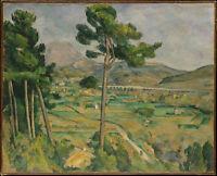Art oil painting Paul Cézanne, Mont Sainte-Victoire Post-Impressionism landscape