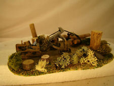 Bulldozer Logging Diorama - custom weathered after historic pictures - HO scale