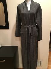 NEW  ARLOTTA 100% Cashmere Robe Long  Melange Tweed Size M/L