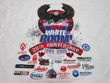 RED WHITE & BOOM ADULT LARGE T-SHIRT JULY 4 FIREWORKS 1985-2005 SANTA ROSA CAL