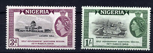 NIGERIA 1959 SELF-GOVERNMENT NORTHERN REGION SG83/84 BLOCKS OF 4 MNH