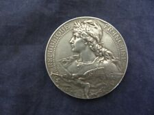 Rare  Antique 1899 Sterling Silver France Grand Cercle Military Medal Medallion