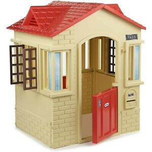 Little Tikes Cape Cottage Playhouse with Working Doors, Windows and Shutters Tan