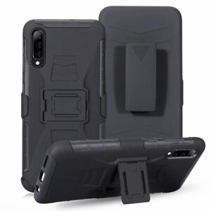 10pcs/lot BK Clip Belt Stand Armor Robot Hybrid Hard Case For iPhone 12 Samsung