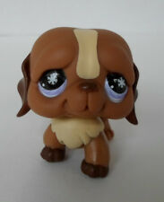 Littlest Pet Shop #729 Brown & Cream St Bernard Dog with snowflake eyes