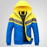 Fashion Mens Hooded Slim Fit Cotton Down Padded Winter Thicken Warm Coat Jackets