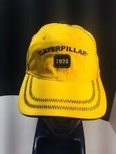 Vintage Caterpillar Cat Hat Cap Trucker Hat Yellow Black 1925