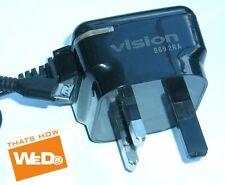 Cargador de viaje Vision W-TC25A/USB B69 2RA DC 5V 1000mA enchufe de Reino Unido