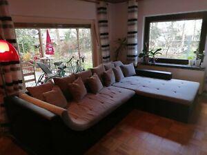 Sofa Wohnlandschaft Ecksofa Funktionsecke