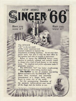 "SINGER SEWING MACHINE 66 Vintage 8 x 10"" REPRINT AD 1906 Ruffler Antique"