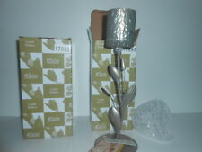 CANDLE HOLDERS (PAIR)- METAL & GLASS 31cm tall HIGH QUALITY ITEMS / NEW