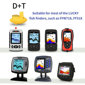 Lucky Wireless Remote Sonar Sensor Fishing Finder Transducer 45M Water Depth D+T