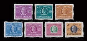 1955-90 Italia Repubblica Recapito Autorizzato Serie completa MNH