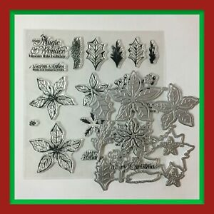 """Unbranded """"POINSETTIA PETALS"""" Stamps & Dies 🎄 ***NEW***"""