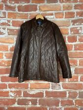 $1k+ Rare Polo Ralph Lauren M Quilted Leather Motorcycle Cafe Racer Jacket