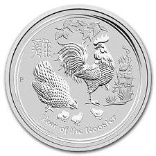 2017 Australia 5 oz Silver Lunar Rooster BU