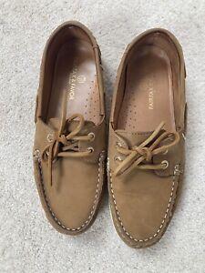 Fairfax & Favor Salcombe Deck Nubuk Shoes in Tan Size UK6 (EU39)