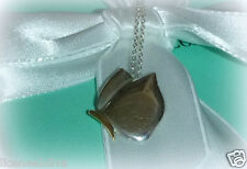 """TIFFANY & CO. STERLING SILVER & 18K OVER SILVER BUTTERFLY NECKLACE! 17"""" RETIRED!"""