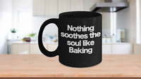 Baking Mug Black Coffee Cup Funny Gift for Master Baker, Pastry Chef, Mom