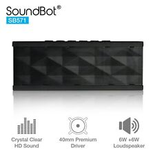 SoundBot SB571 Bluetooth 3.0 Wireless Speaker Hands Free Calling Black on Black