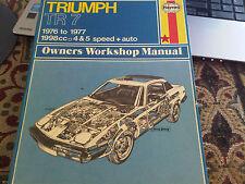 TRIUMPH TR7 TR 7 1976 a 1977 4 & 5 velocità + AUTO Haynes Officina Proprietari Manuale