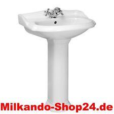 Spülstein Waschbecken Keramik Retro Waschtisch mit Säule Waschtisch Nostalgie 13