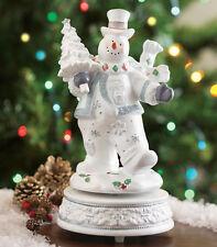 JOLLY DANCING SNOWMAN MUSIC BOX ~NEW Walking in a Winter Wonderland