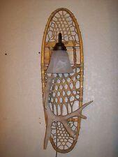 REAL WHITETAIL DEER-ELK-MOOSE-ANTLER SHED HORN SNOWSHOE SCONCE LIGHT/LAMP #31