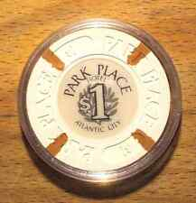 $1 BALLY'S PARK PLACE Hotel Casino Chip - Lite Brown Inserts - Atlantic City