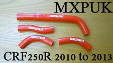 CRF250 2011 SILICONE HOSES IN RED MXPUK CRF 250 HOSE KIT 2010 CR250F (416)