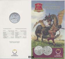 Österreich 10 Euro Silber GM 2011 Lindwurm handgehoben
