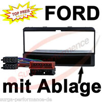 Radioblende FORD Mondeo Fiesta Focus Autoradio Rahmen Adapter mit Kabel SET NEU