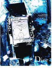PUBLICITE ADVERTISING  2002   DIOR  collection montres