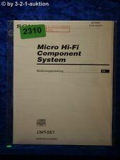 Sony Bedienungsanleitung CMT SE1 Component System (#2310)